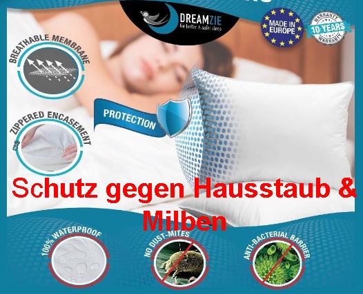 Anti Milben Kopfkissen gegen Hausstauballergie und Milbenstaub